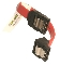 Short SATA S-R Cable-Black-4""